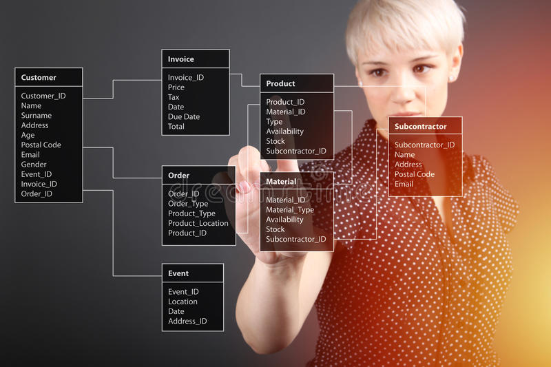 Таблица базы данных - техническая концепция бесплатная иллюстрация