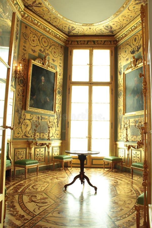 Таблица Версаль в королевском дворце в Варшаве стоковая фотография