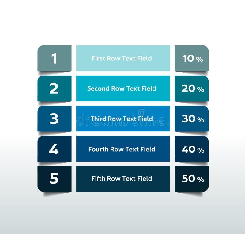 Таблица, диаграмма, план-график Элементы Infographics иллюстрация штока