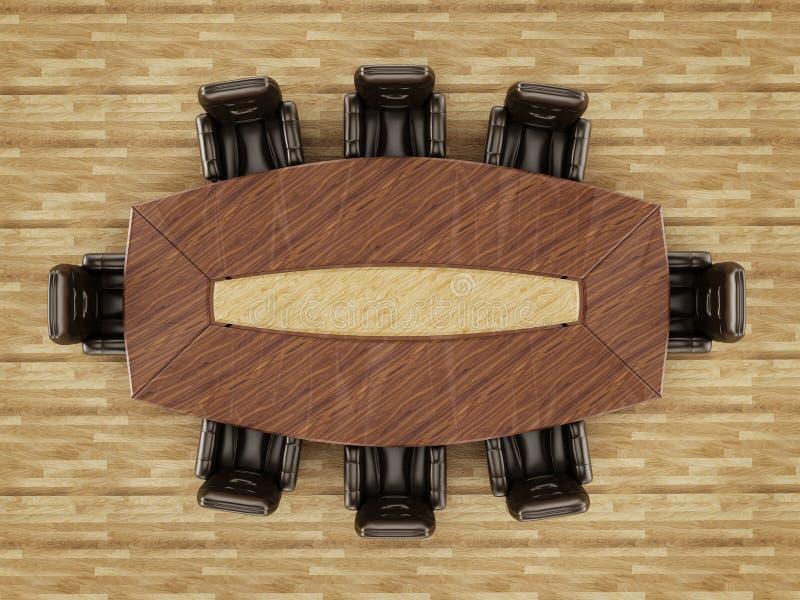 Таблица и стул зала заседаний правления стоковая фотография rf