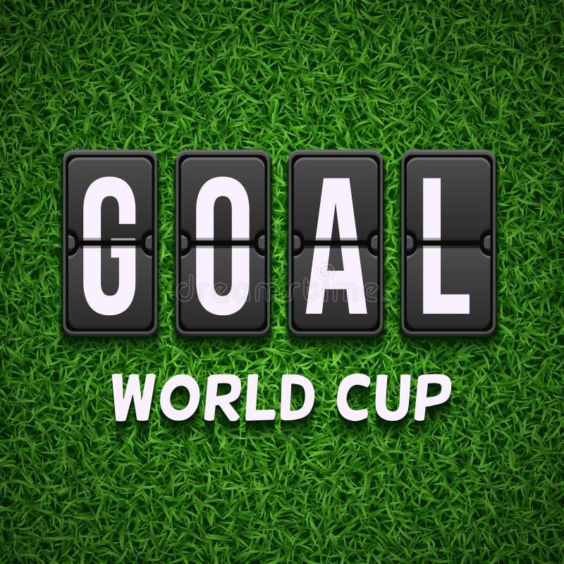 Табло цели Концепция вектора футбола футбола для кубка мира иллюстрация штока