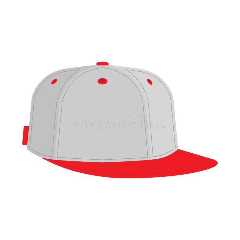 Тазобедренные хмель или бейсбольная кепка рэппера иллюстрация штока