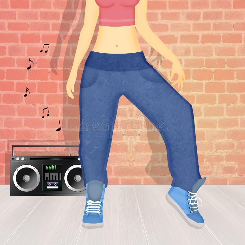 Тазобедренный танец хмеля иллюстрация вектора