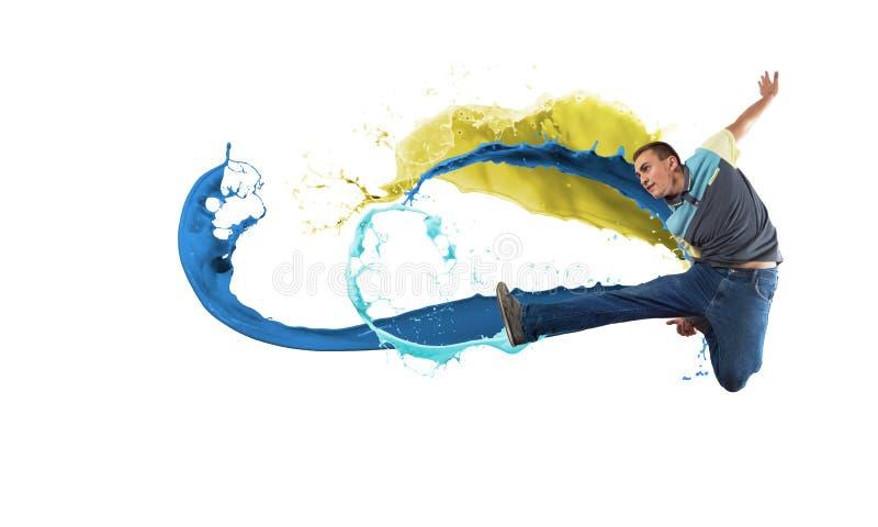 Тазобедренный танцор хмеля стоковые изображения rf