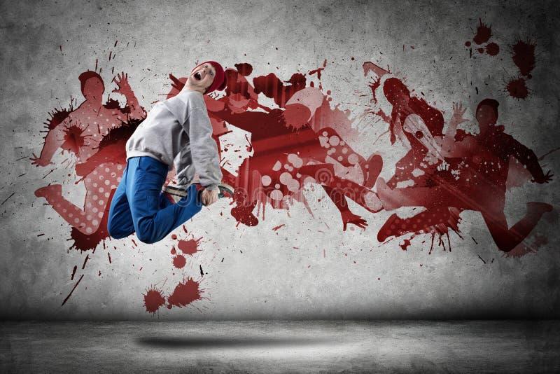 Тазобедренный танцор хмеля стоковое изображение rf
