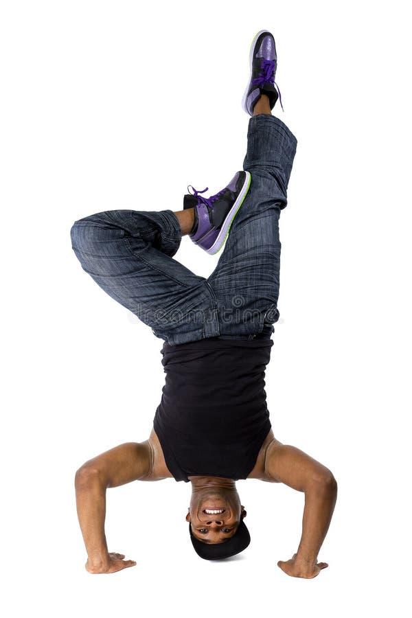 Тазобедренный танцор Breakdancing хмеля стоковые фотографии rf