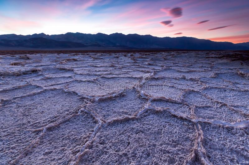 Таз Badwater, Death Valley, Калифорния, США стоковая фотография