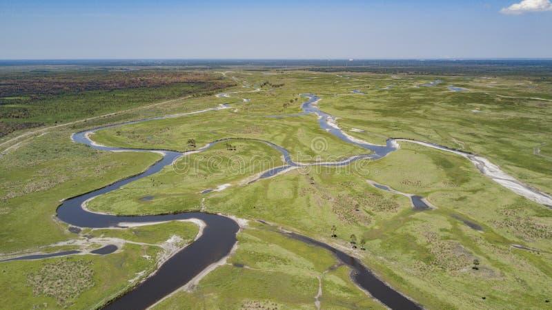 Таз St. Johns River в Brevard County Флориде стоковое фото