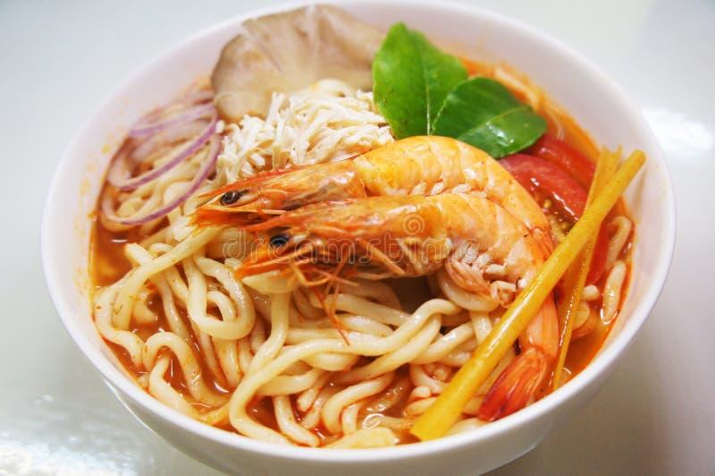 Таиландский ресторан Food Tom Yam Laksa Fresh Cook Seafood Prawn Noodles стоковое фото rf