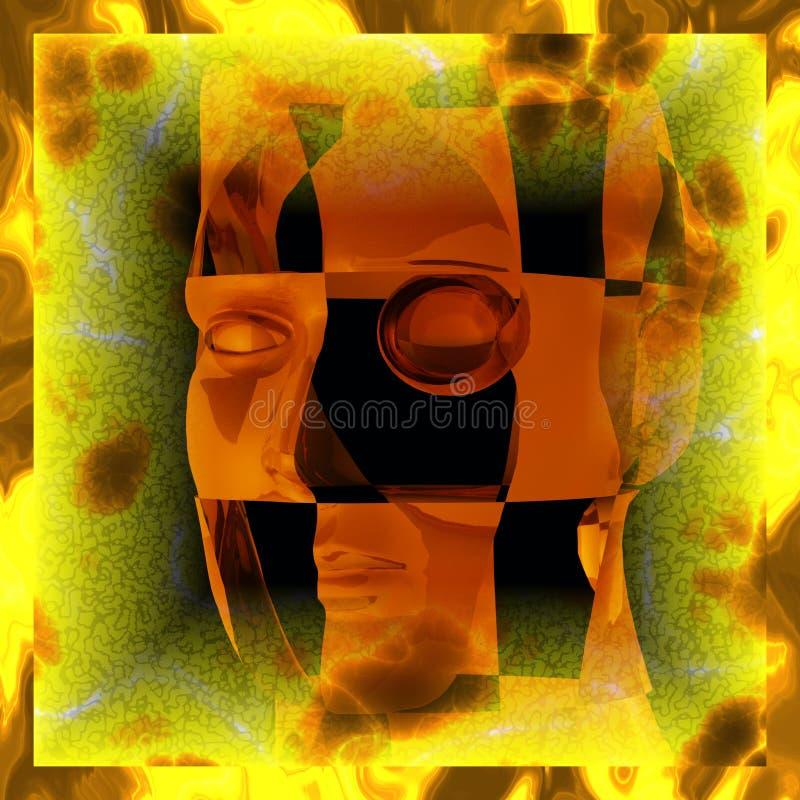Таинственный cyborg бесплатная иллюстрация