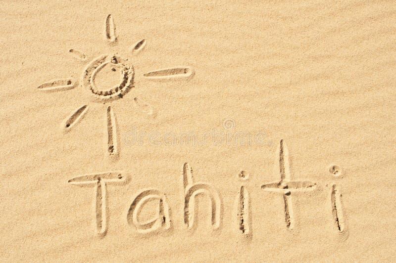 Таити в песке стоковые изображения rf