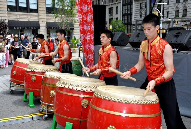 тайванец nyc барабанщиков стоковое фото rf