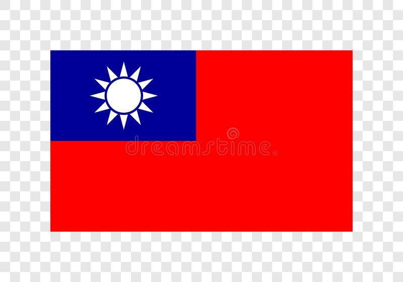Тайвань - национальный флаг иллюстрация вектора