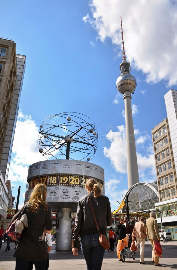 Таймер мира, Alexanderplatz стоковое фото rf