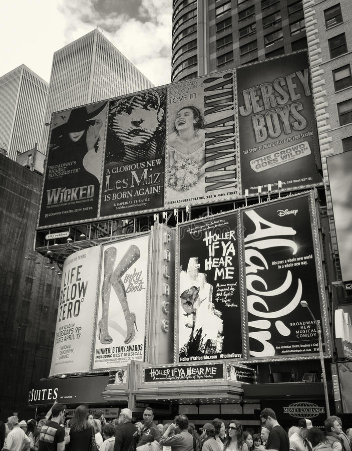 Таймс площадь, Бродвей, Нью-Йорк стоковое фото rf