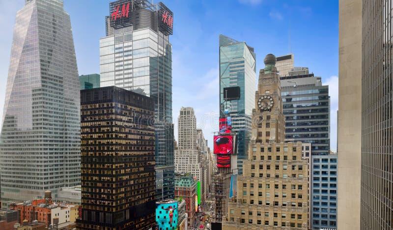 Таймс-сквер в Нью-Йорке стоковые изображения rf