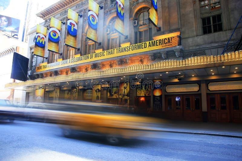 Таймс-сквер отличено с театрами Бродвей стоковое фото rf