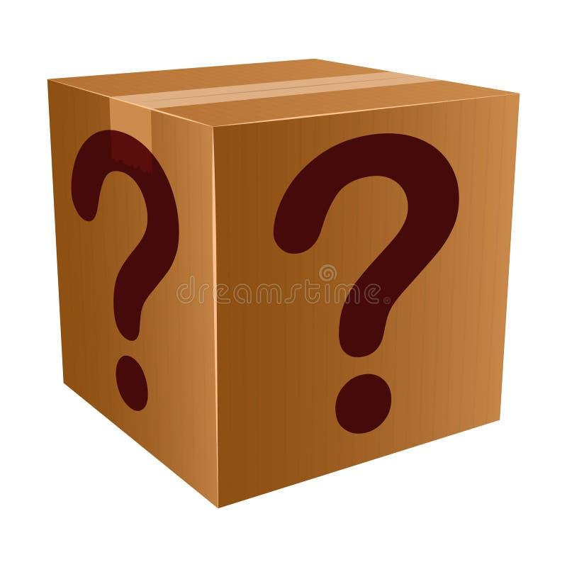 тайна коробки иллюстрация вектора
