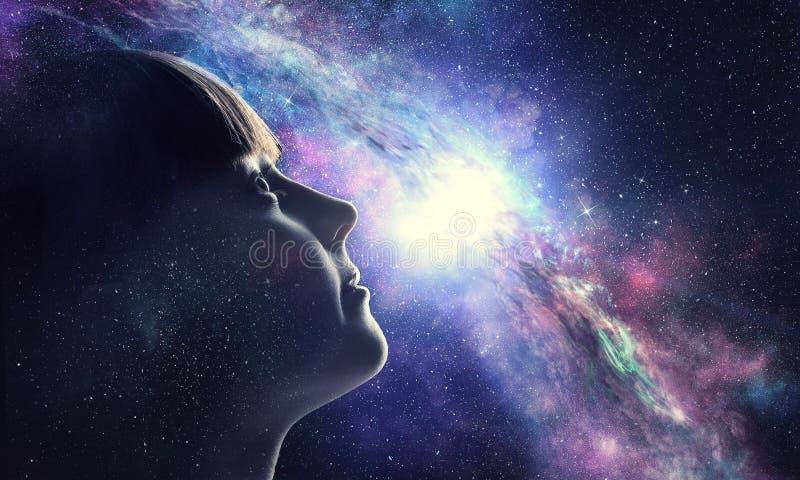 Тайна мира космоса стоковое фото rf