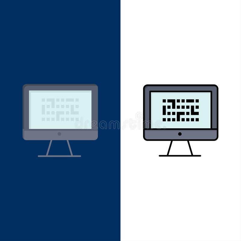 Тайнопись, данные, Ddos, шифрование, информация, значки проблемы Квартира и линия заполненный значок установили предпосылку векто иллюстрация штока