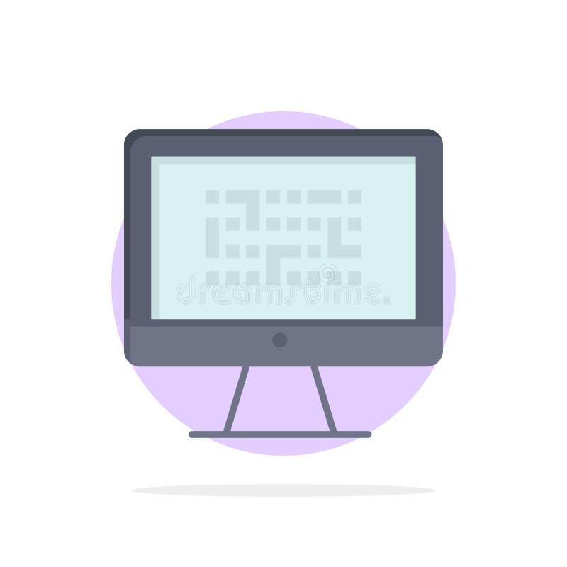 Тайнопись, данные, Ddos, шифрование, информация, значок цвета предпосылки круга конспекта проблемы плоский иллюстрация штока