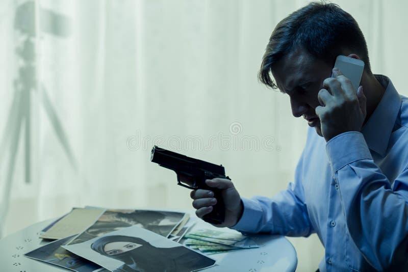 Тайный агент во время деятельности стоковые изображения rf