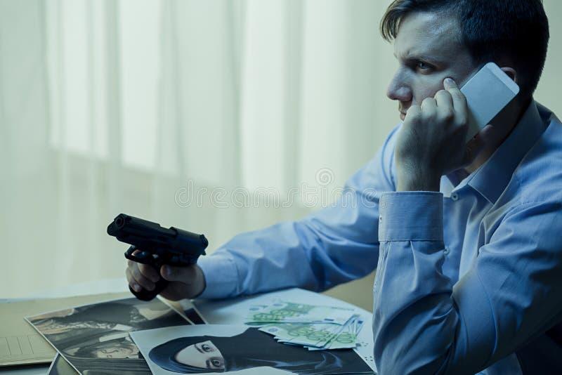 Тайный агент и теория заговора стоковое фото