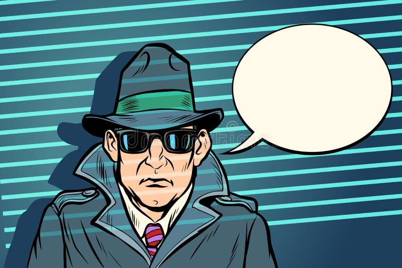 Тайный агент шпиона иллюстрация вектора
