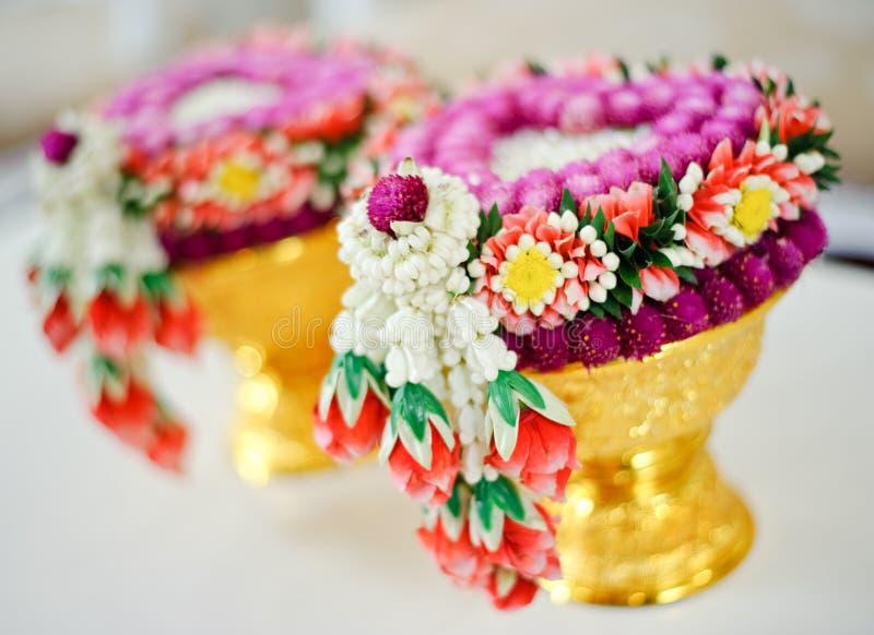 Тайская гирлянда цветка стоковые фотографии rf