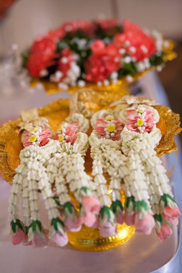 Тайская гирлянда, для тайской свадебной церемонии стоковая фотография