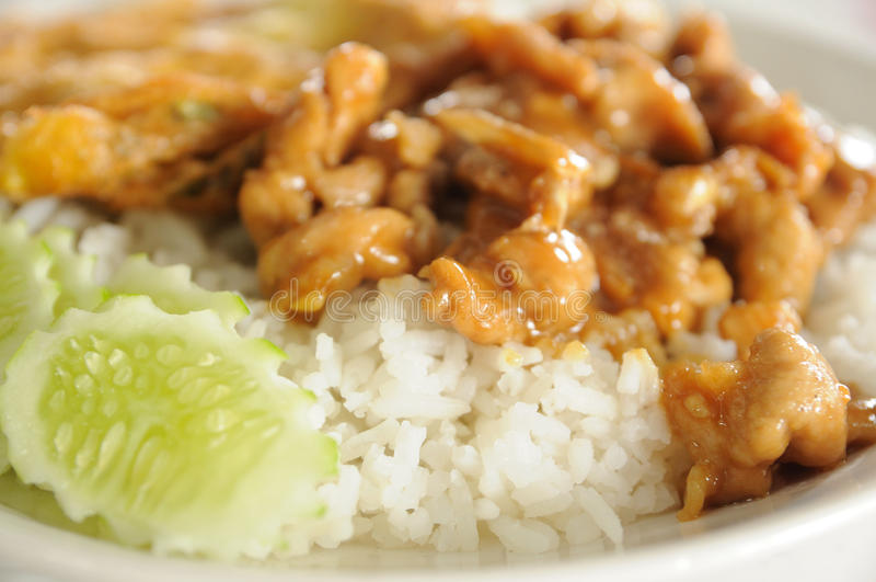 Download Тайская еда, омлет с чесноком свинины и перец. Стоковое Изображение - изображение насчитывающей смешанно, еда: 33728155