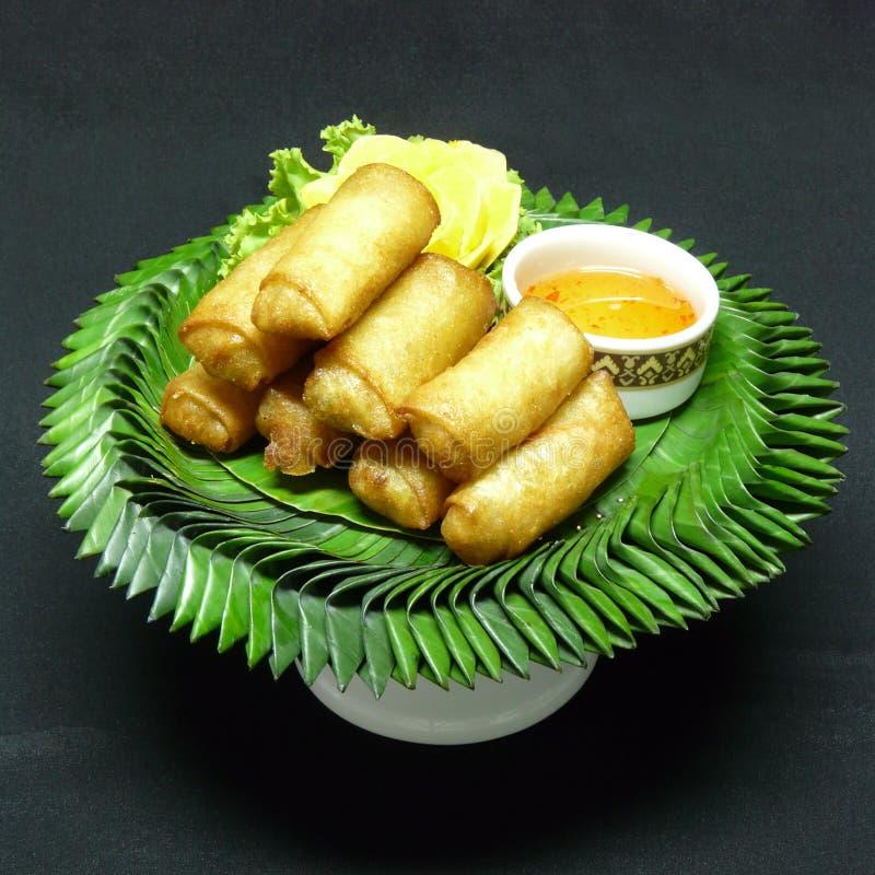 Тайская закуска, tod pia por стоковые изображения