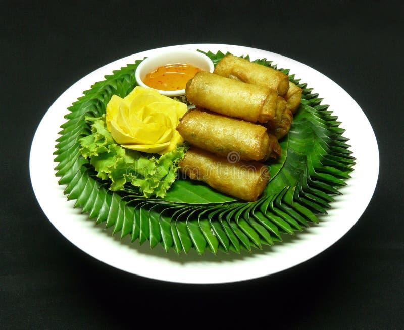 Тайская закуска, tod pia por стоковое фото