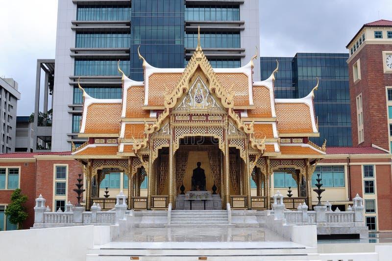 Тайская зала стиля стоковое фото rf