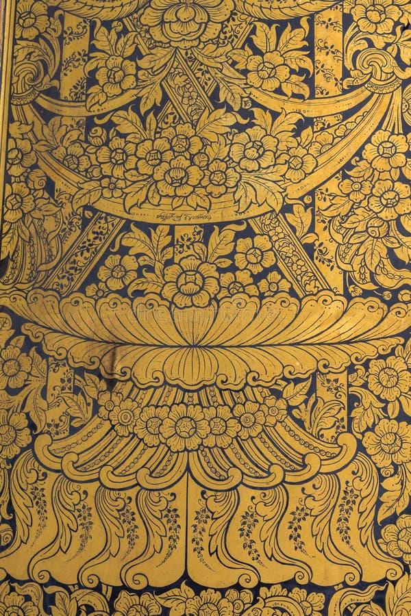 Тайская картина искусства стены стоковое фото rf