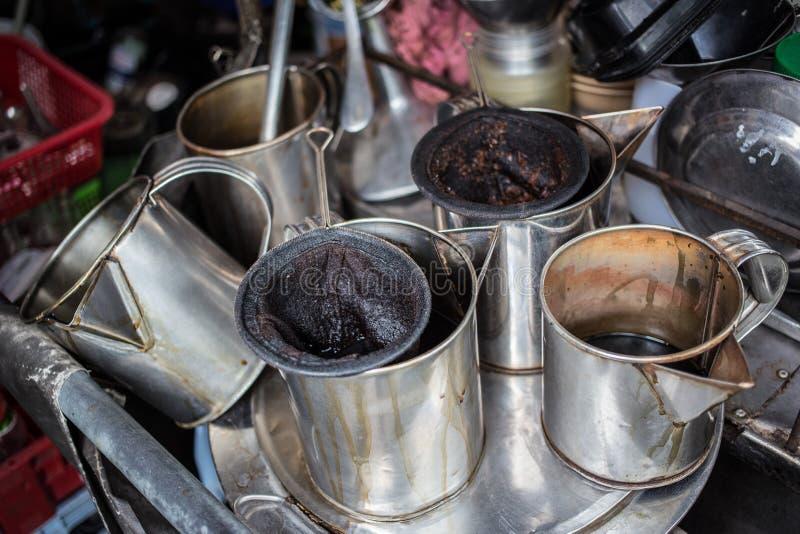 Тайская кофеварка стоковые фото