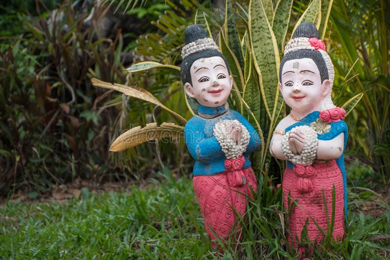 Тайская кукла стоковые фотографии rf