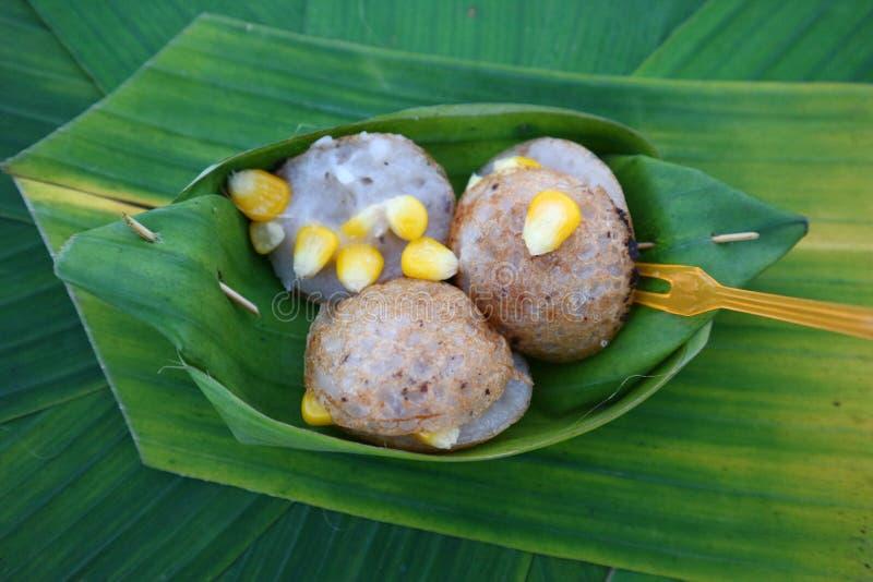 Тайская кухня имеет разнообразие шармы и десерты в красивом цвете стоковое фото rf