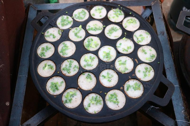 Тайская кухня имеет разнообразие шармы и десерты в красивом цвете стоковая фотография rf