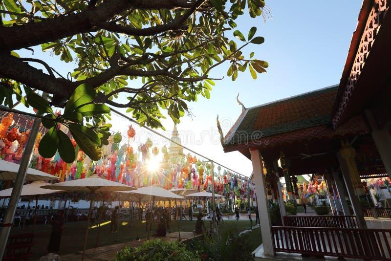 Тайская пагода в Lamphun Таиланде стоковое фото rf