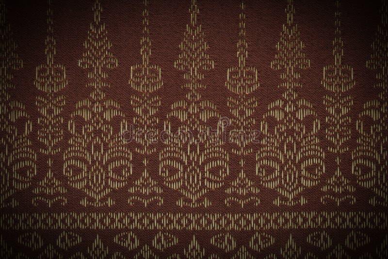 Тайская предпосылка картины/тайская картина/тайская картина Silk предпосылки стоковое изображение rf