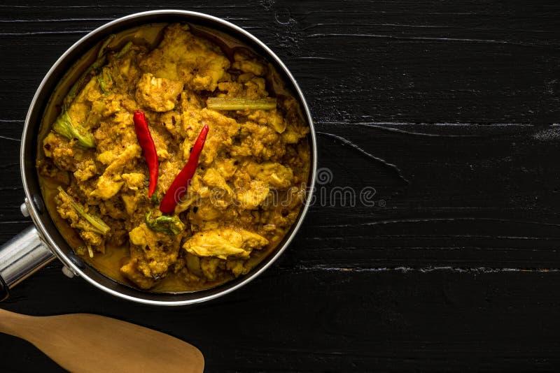 Тайская предпосылка кухни/тайская кухня/тайская кухня на черной предпосылке стоковые фотографии rf