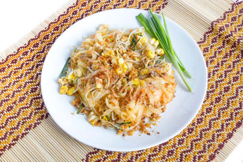 Тайская пусковая площадка еды тайская стоковое изображение rf