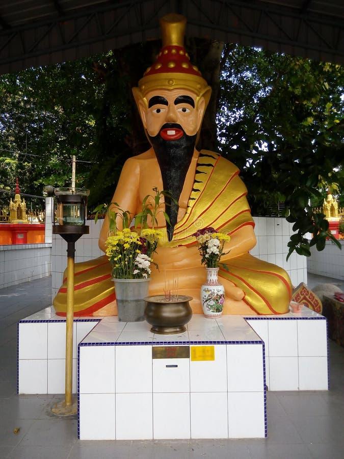 Тайская статуя бога затворницы в Penang стоковые фотографии rf