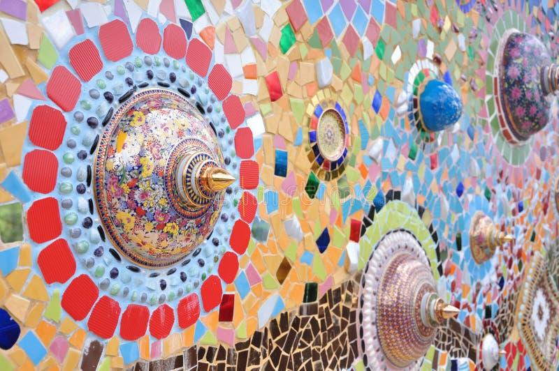 Тайская стена Benjarong стоковые изображения