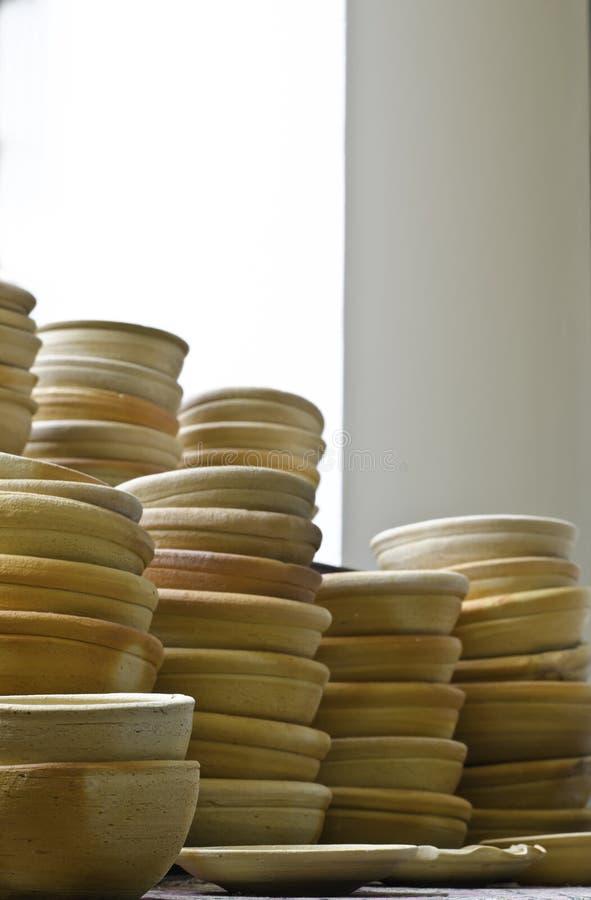Тайская традиционная гончарня глины стоковая фотография