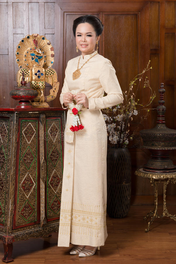 Тайская традиционная ткань культуры стоковое изображение rf