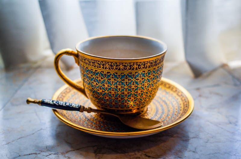 Тайская чашка чая стоковое фото