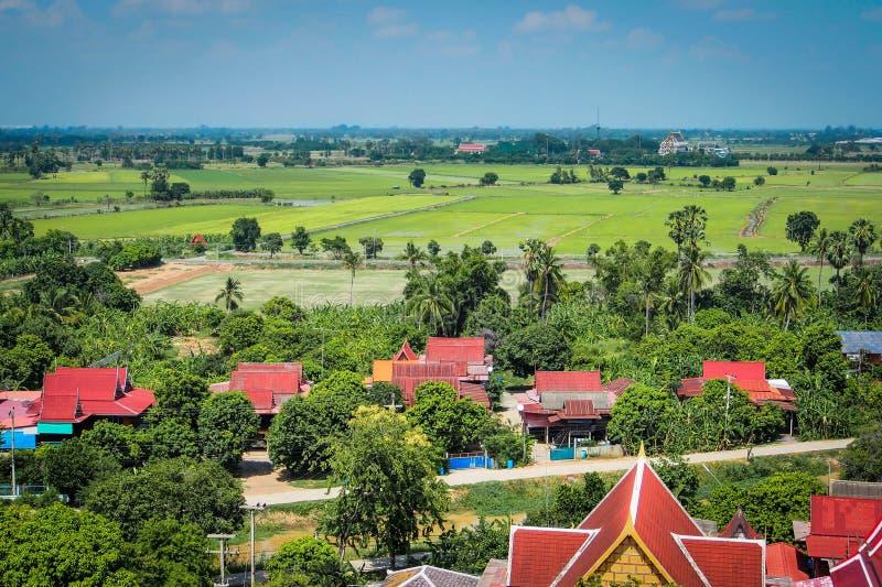 Тайские деревни в городе Angthong, Таиланде стоковое фото rf