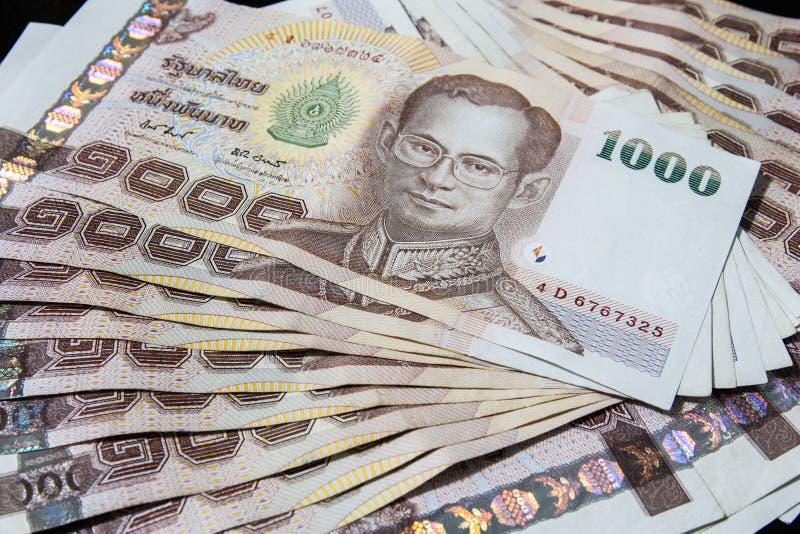 Тайские деньги, бат 1000 стоковая фотография